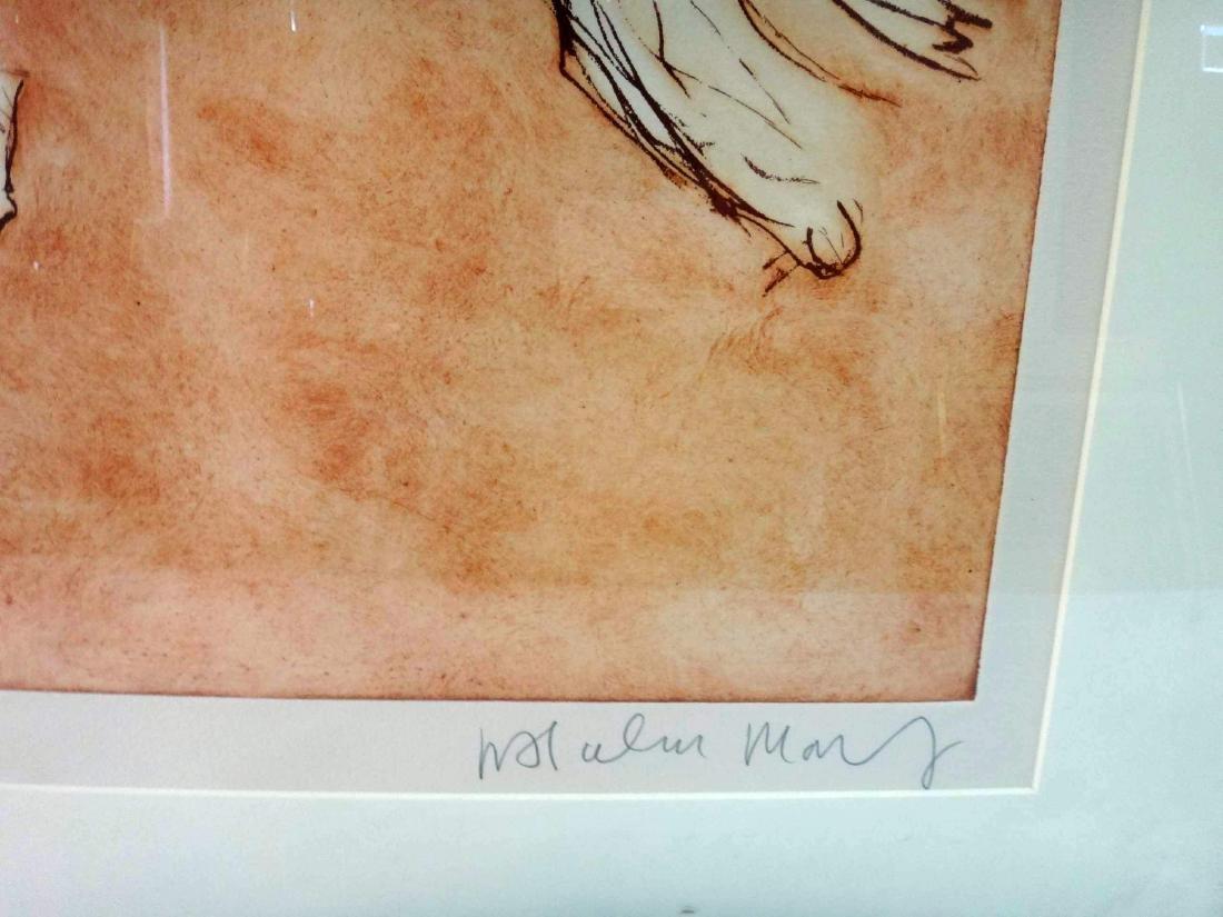 MALCOLM MORTLEY, FRAMED/GLAZED ETCHING - 3