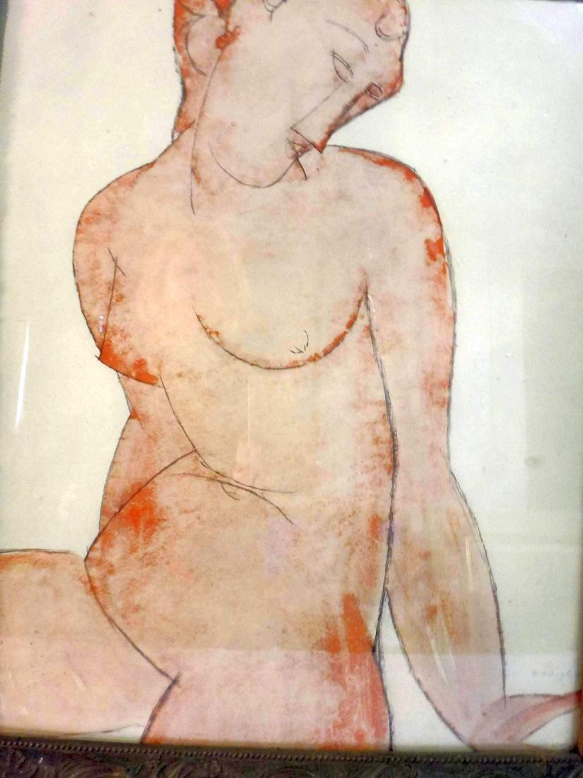 AMEDEO MODIGLIANI, PENCIL SIGNED, PLATE #516 - 3