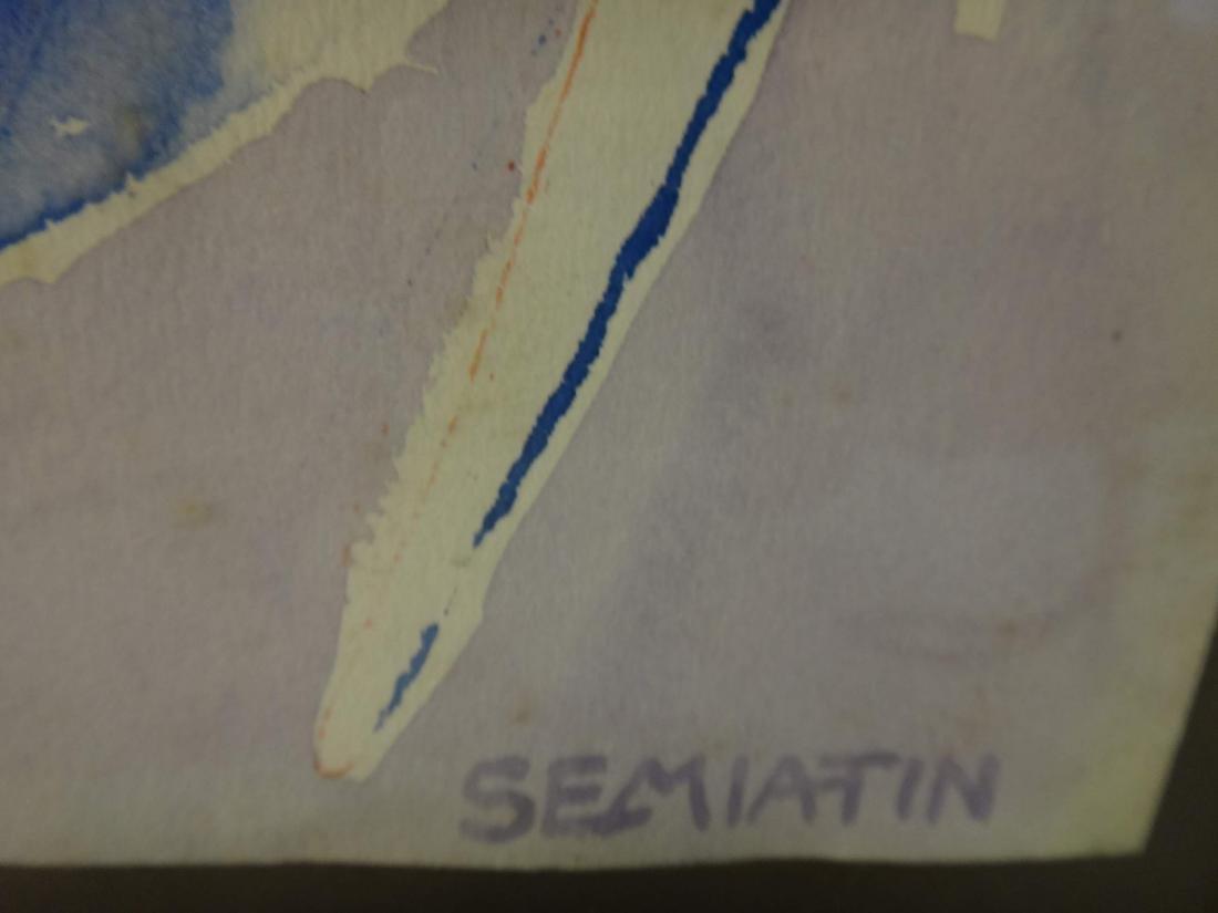 JACOB SEMIATIN SIGNED WATERCOLORS - 3