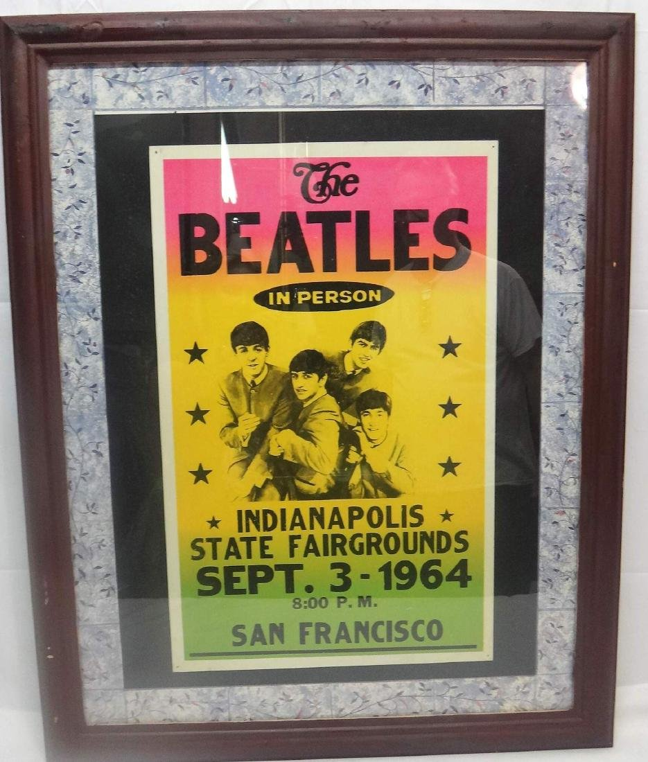 """THE BEATLES""  MISPRINTED SHOW COLORED PROMO POSTER"