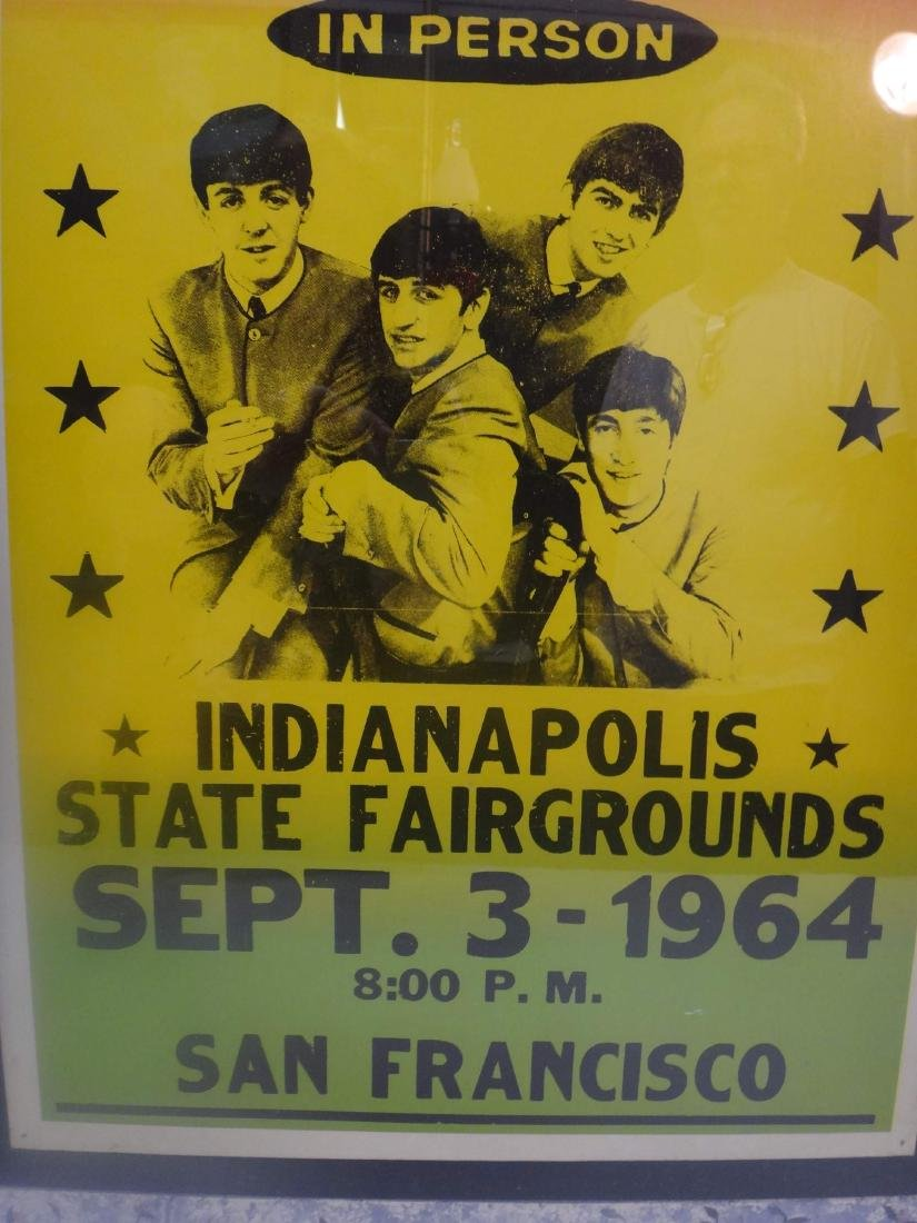 """THE BEATLES""  MISPRINTED SHOW COLORED PROMO POSTER - 2"