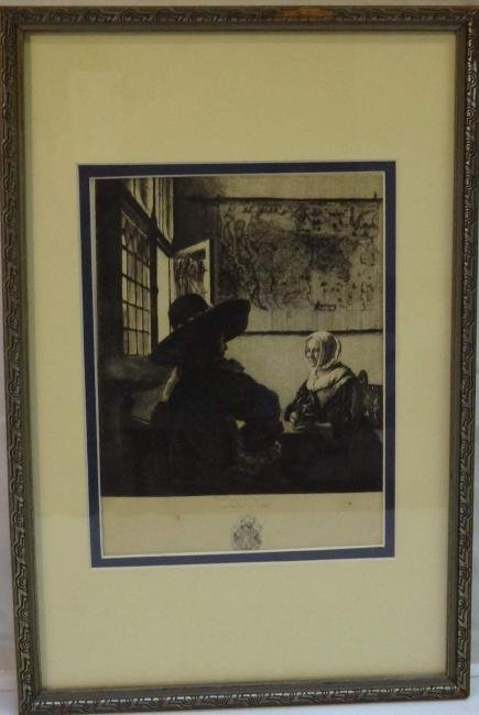 """""""WOMEN & SOLDIER"""" JULES JACQUEMART ONLY ETCHING OF"""