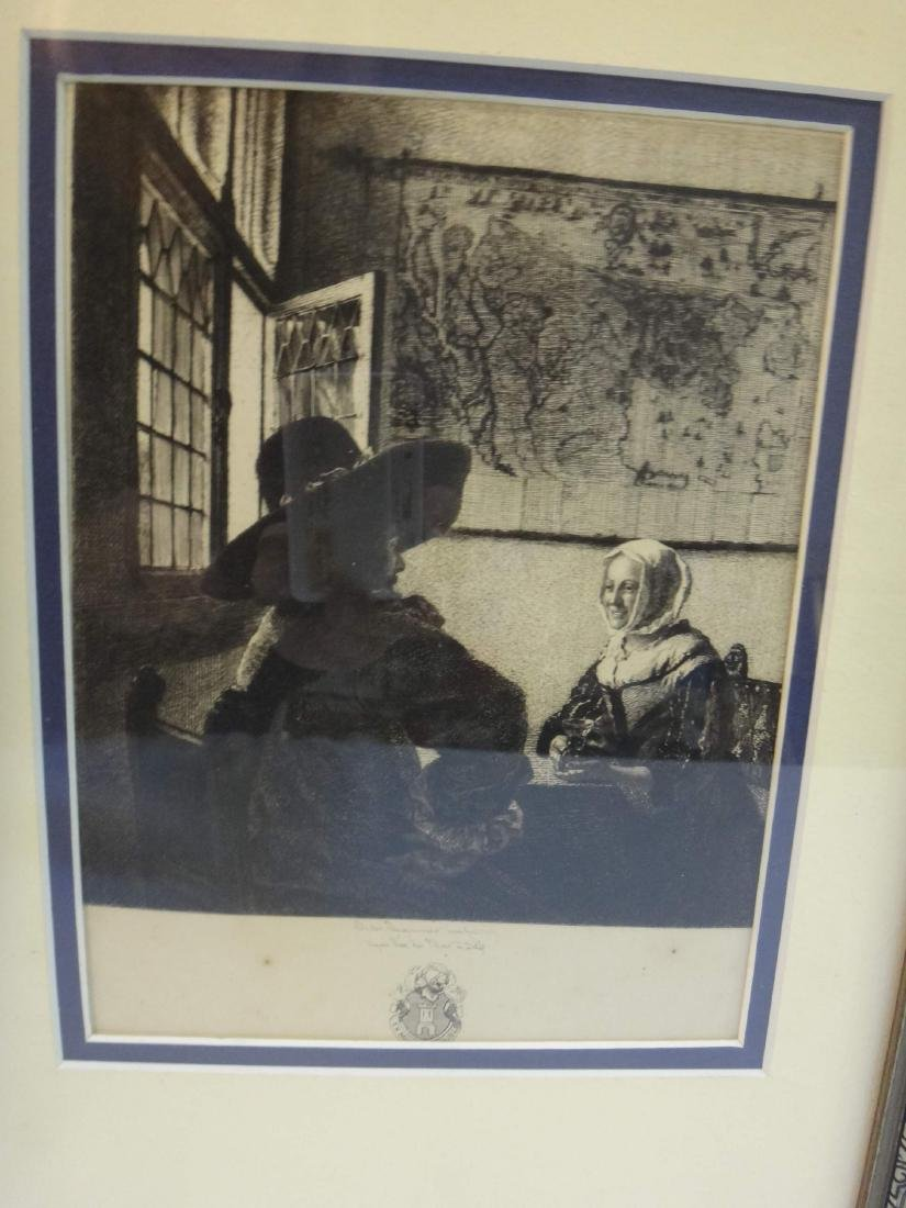 """""""WOMEN & SOLDIER"""" JULES JACQUEMART ONLY ETCHING OF - 2"""
