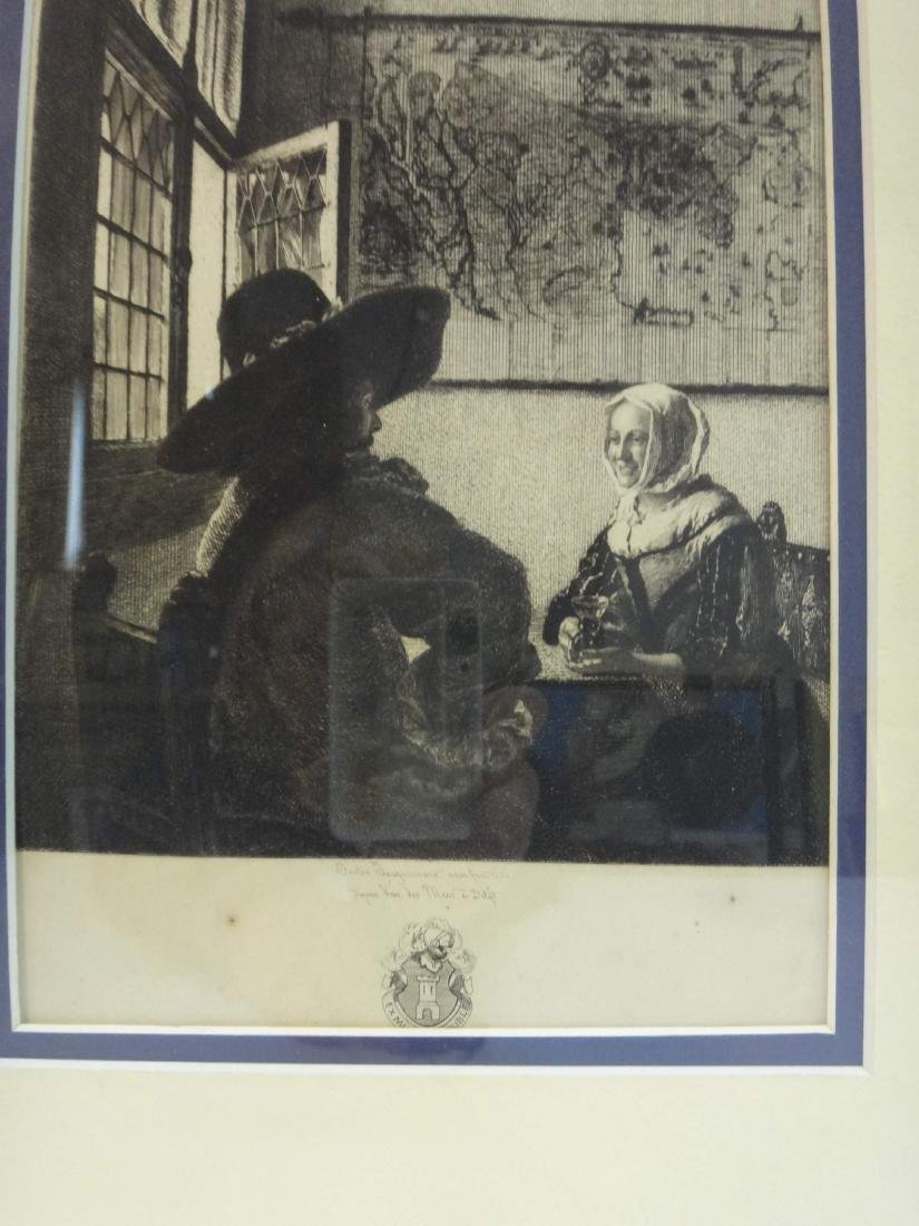 """""""WOMEN & SOLDIER"""" JULES JACQUEMART ONLY ETCHING OF - 3"""