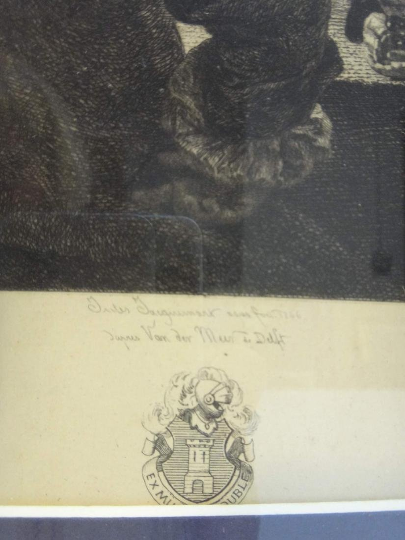 """""""WOMEN & SOLDIER"""" JULES JACQUEMART ONLY ETCHING OF - 4"""