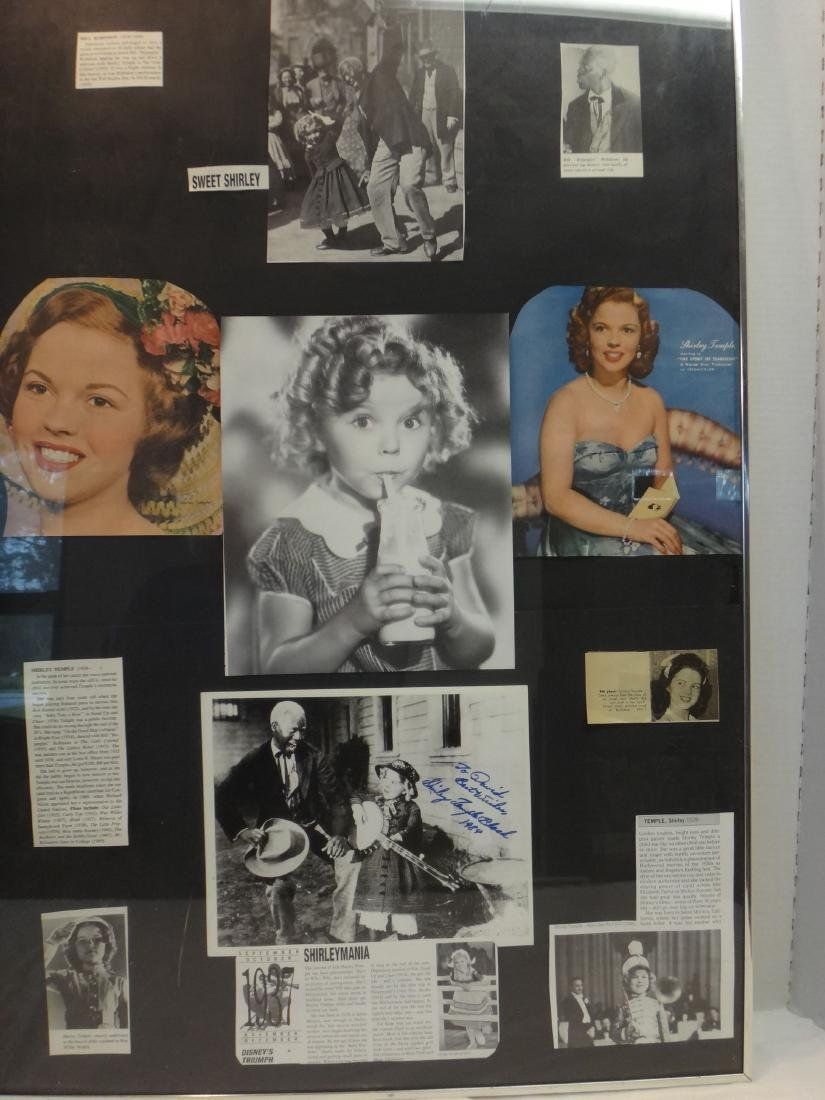 FRAMED COLLAGES OF SHIRLEY TEMPLE & JUDY GARLAND. - 4