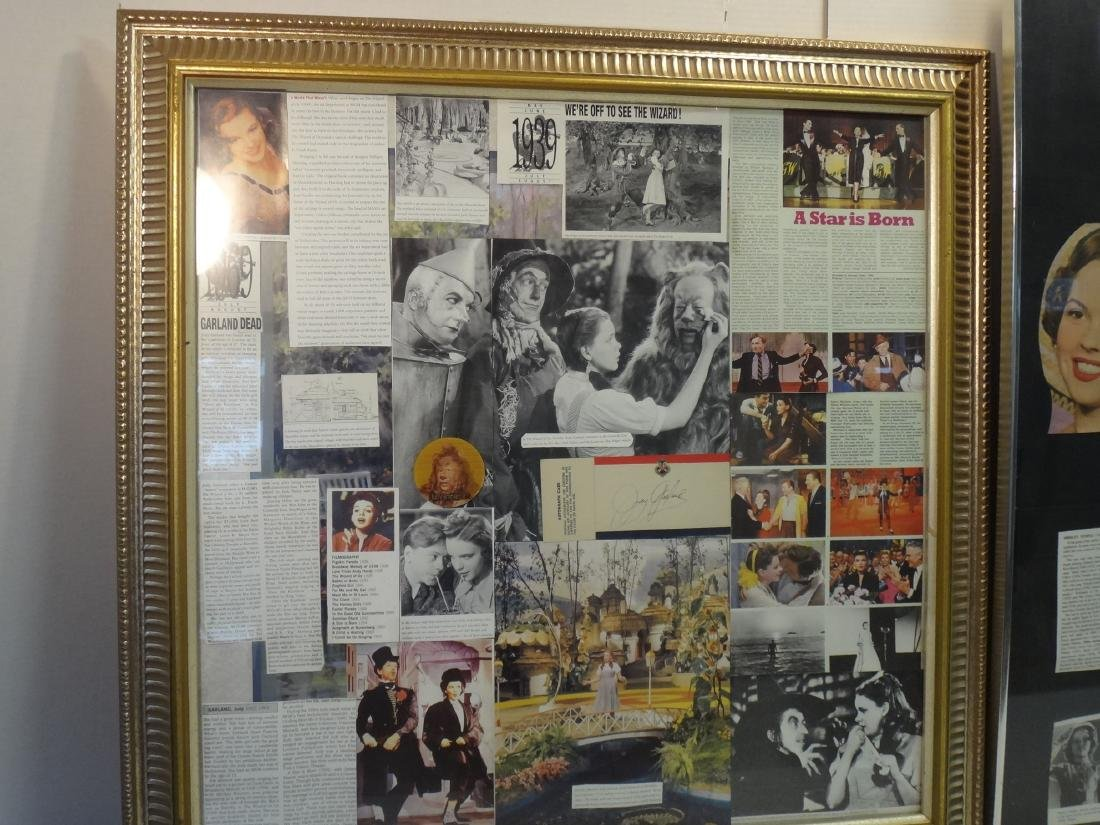 FRAMED COLLAGES OF SHIRLEY TEMPLE & JUDY GARLAND. - 5