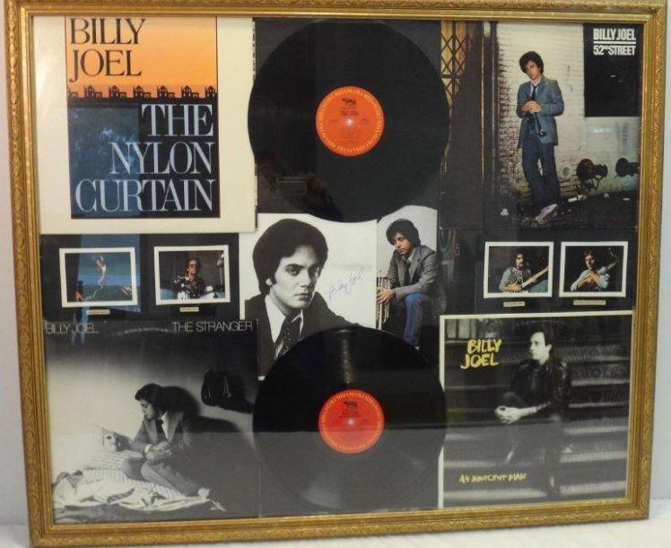 BILLY JOEL COLLAGE VINYL/ALBUM COVER SIGNED.