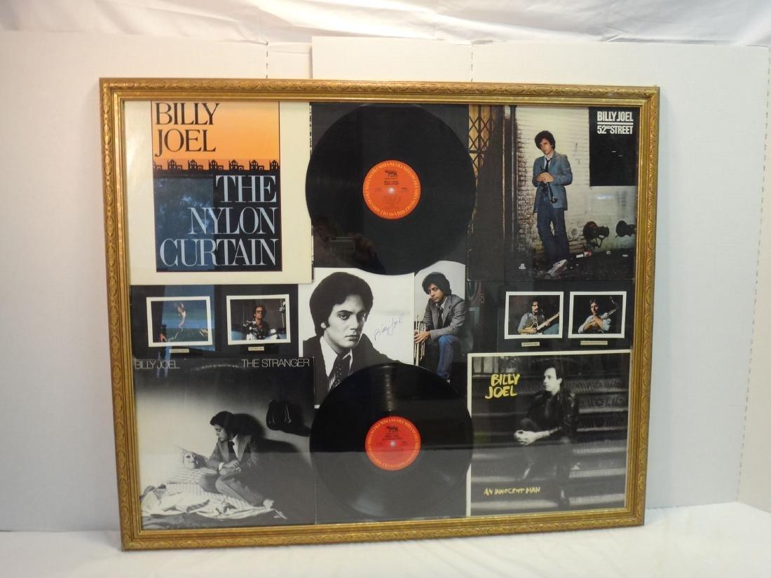 BILLY JOEL COLLAGE VINYL/ALBUM COVER SIGNED. - 2