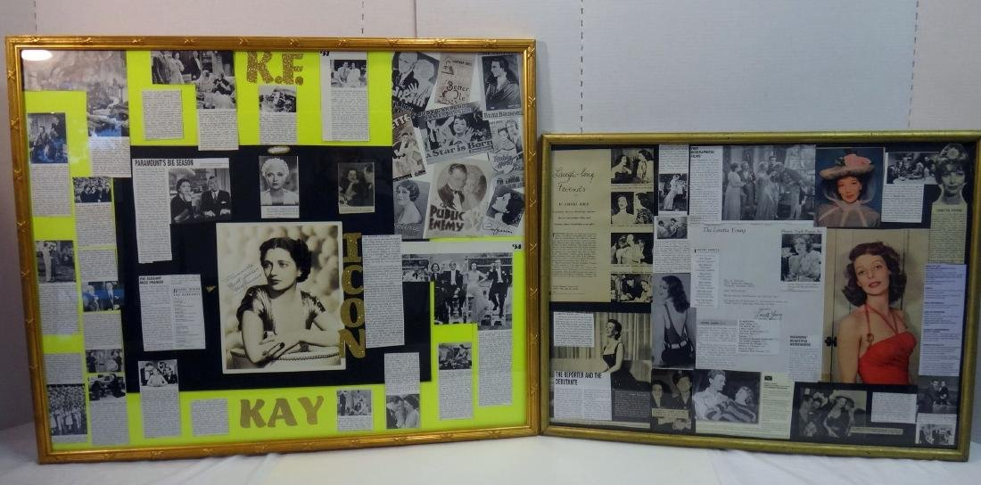 LOT OF 2. LORETTA YOUNG & KAY FRANCIS COLLAGES