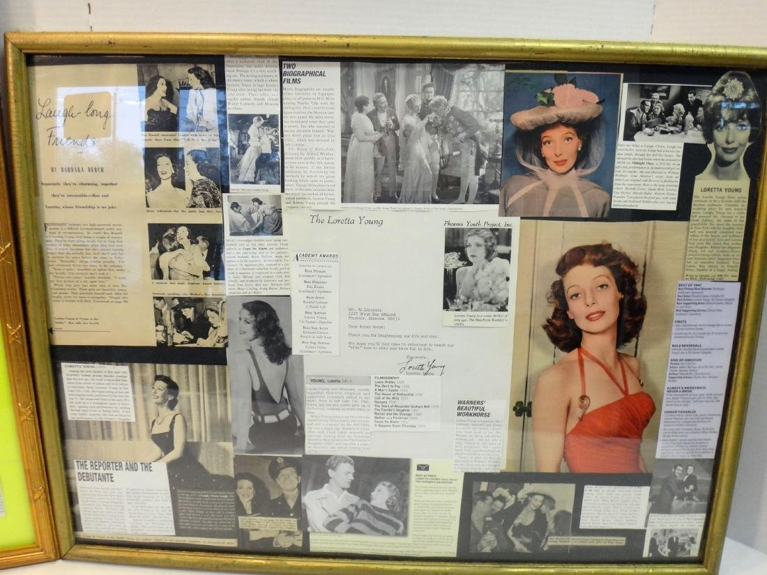 LOT OF 2. LORETTA YOUNG & KAY FRANCIS COLLAGES - 4