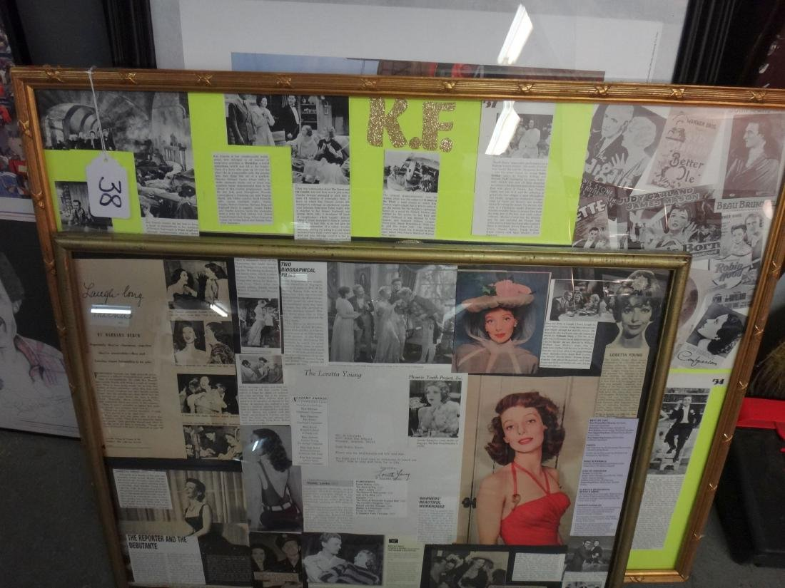LOT OF 2. LORETTA YOUNG & KAY FRANCIS COLLAGES - 8