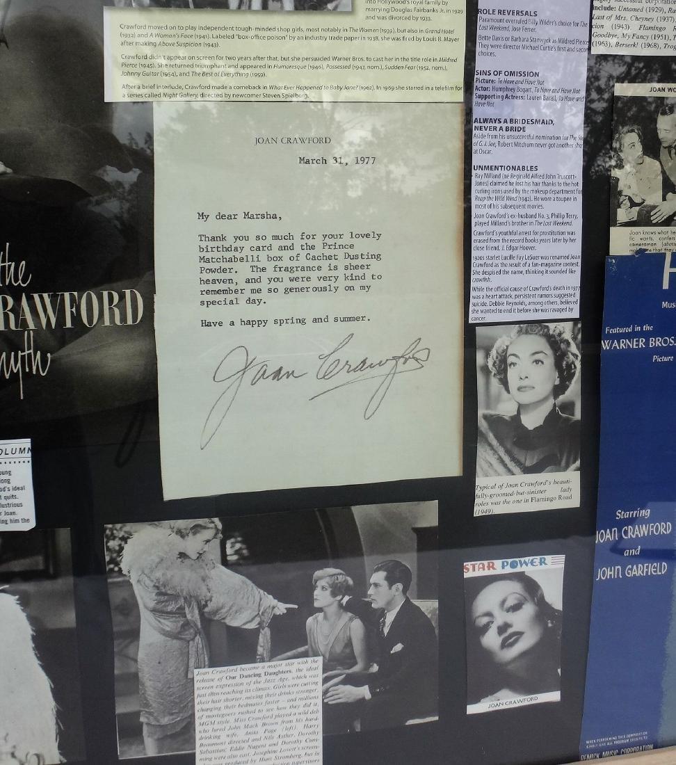 JOAN CRAWFORD FRAMED COLLAGE, SIGNED. - 3