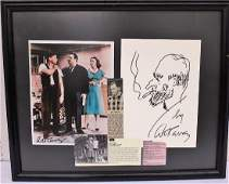 ART CARNEY FRAMED COLLAGE  DRAWING