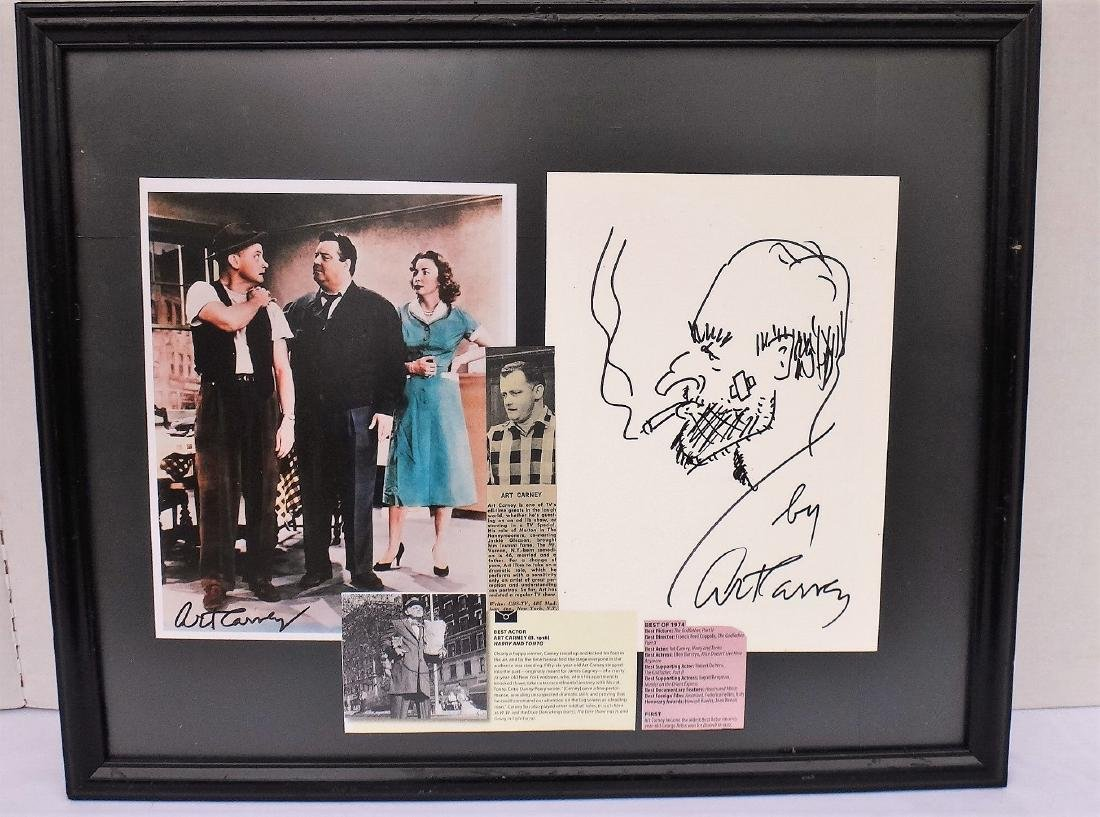ART CARNEY FRAMED COLLAGE & DRAWING - 2
