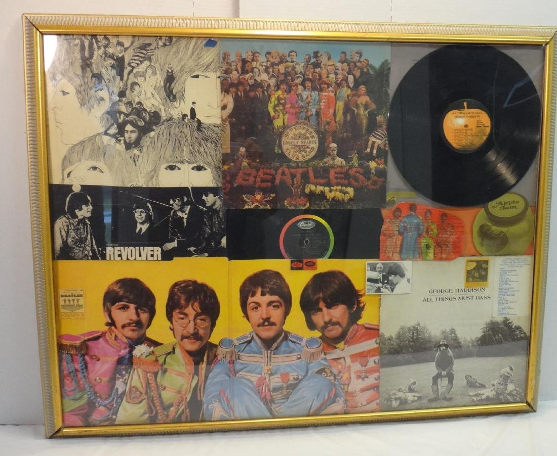 BEATLES GEORGE HARRISON VINYL COLLAGE.