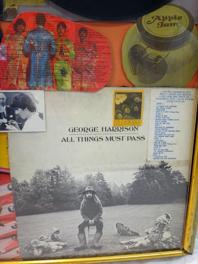 BEATLES GEORGE HARRISON VINYL COLLAGE. - 4