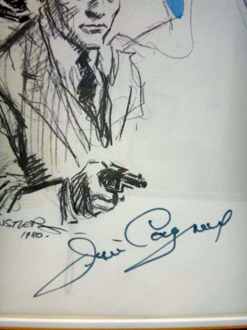 JAMES CAGNEY PORTRAIT, LITHOGRAPH, SIGNED. - 3