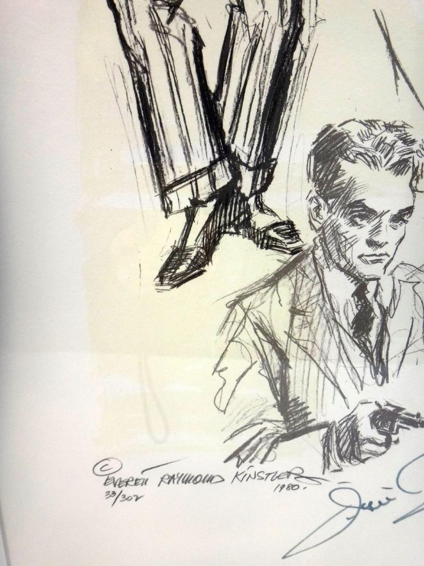 JAMES CAGNEY PORTRAIT, LITHOGRAPH, SIGNED. - 4