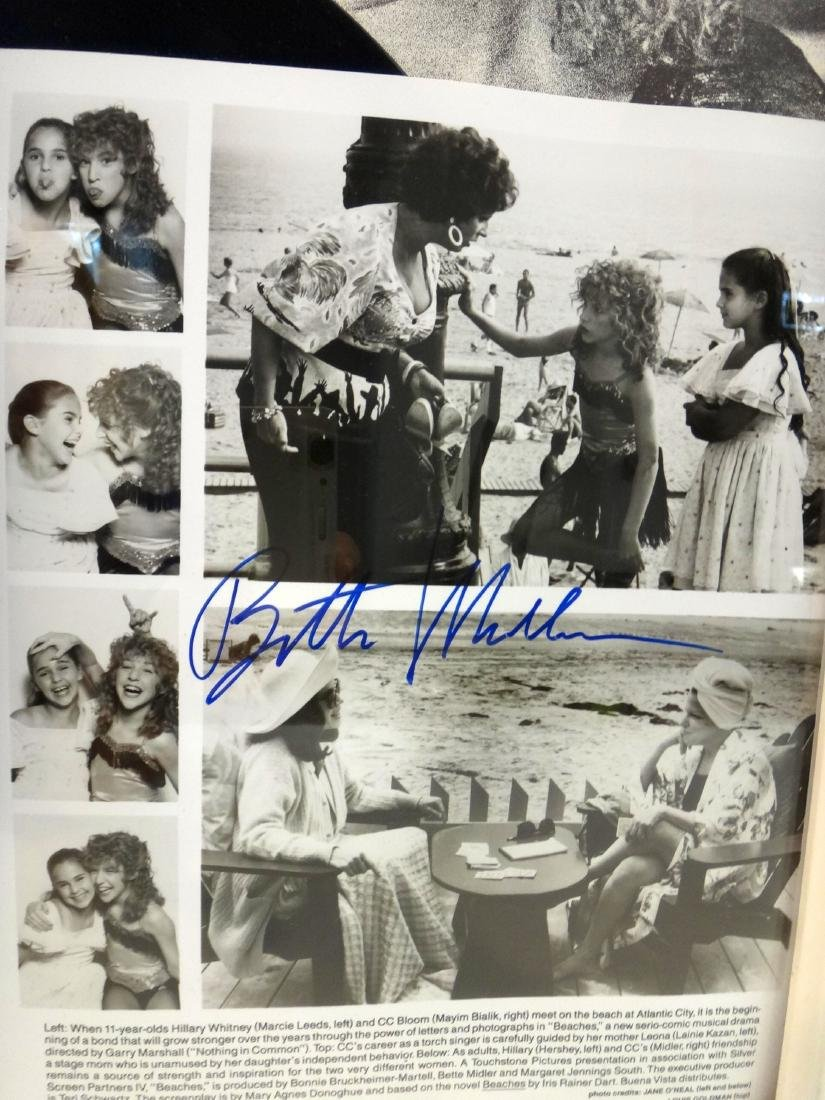 LISA MINNELLI AND BETTE MIDLER SIGNED PHOTO COLLAGES - 6