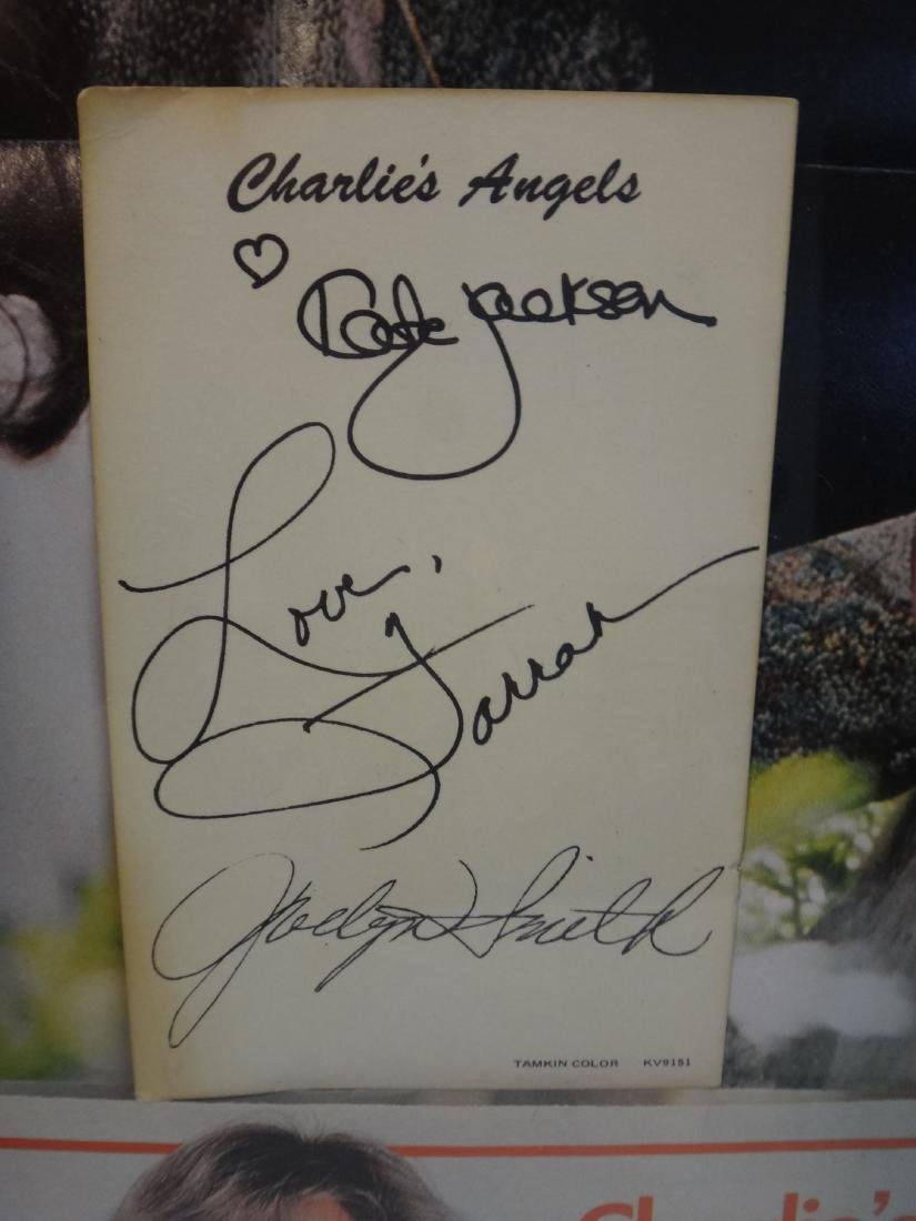 CHARLIE'S ANGEL'S KATE JACKSON SIGNED CARD - 3