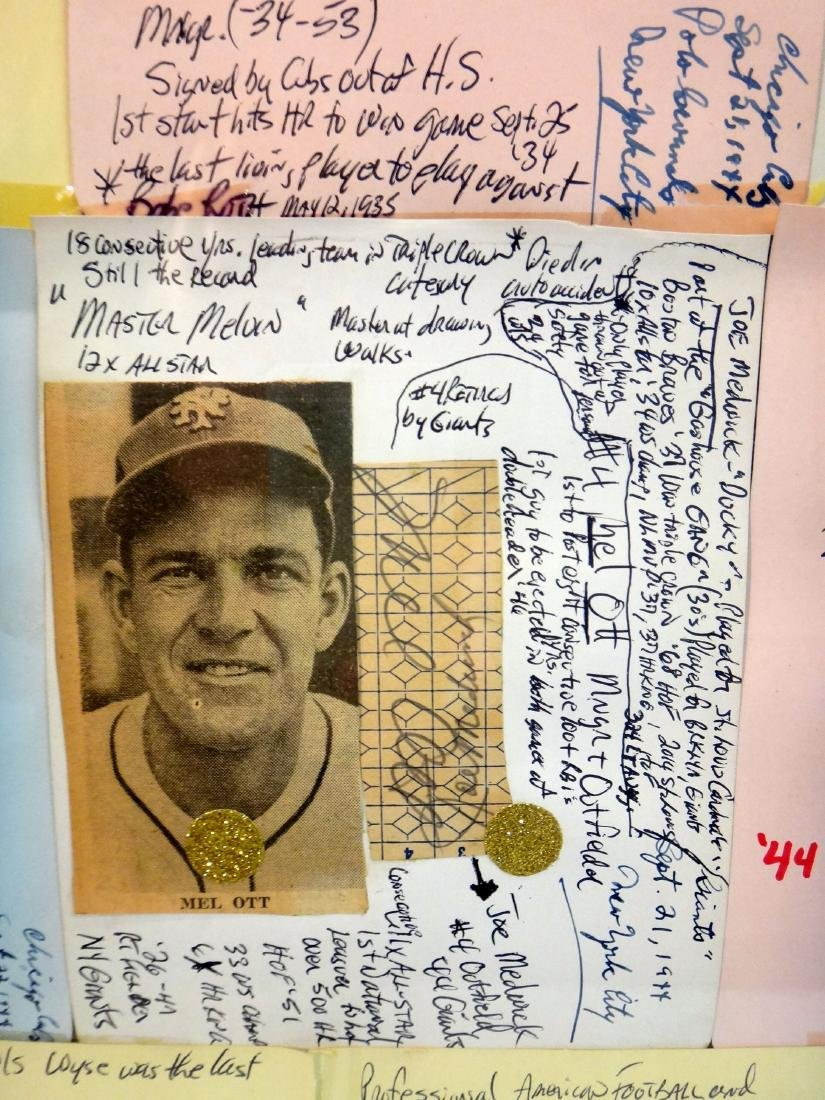 COLLECTION OF MLB AUTOGRAPHS FROM 1944, CHICAGO/NY - 3