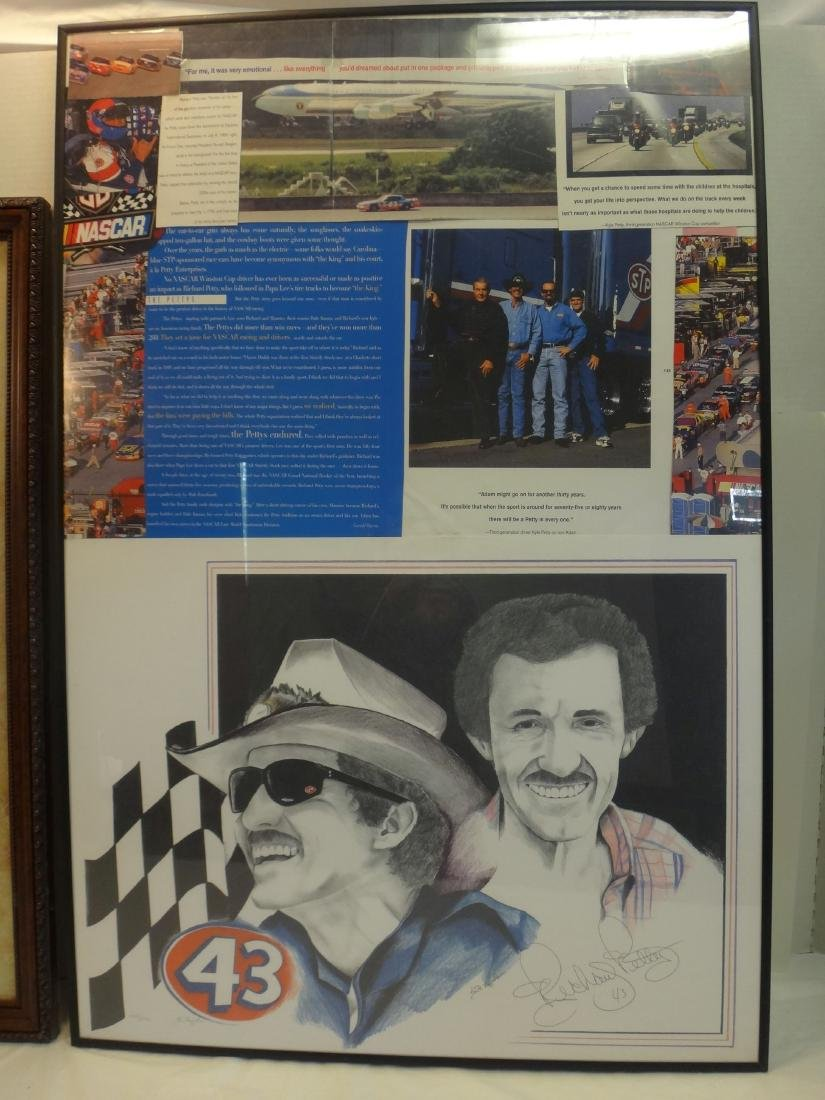 RICHARD PETTY W/ EARNHART POSTERS SIGNED. - 4