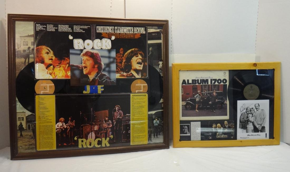 ROCK STAR COLLAGE W/ SIGNED PHOTO.