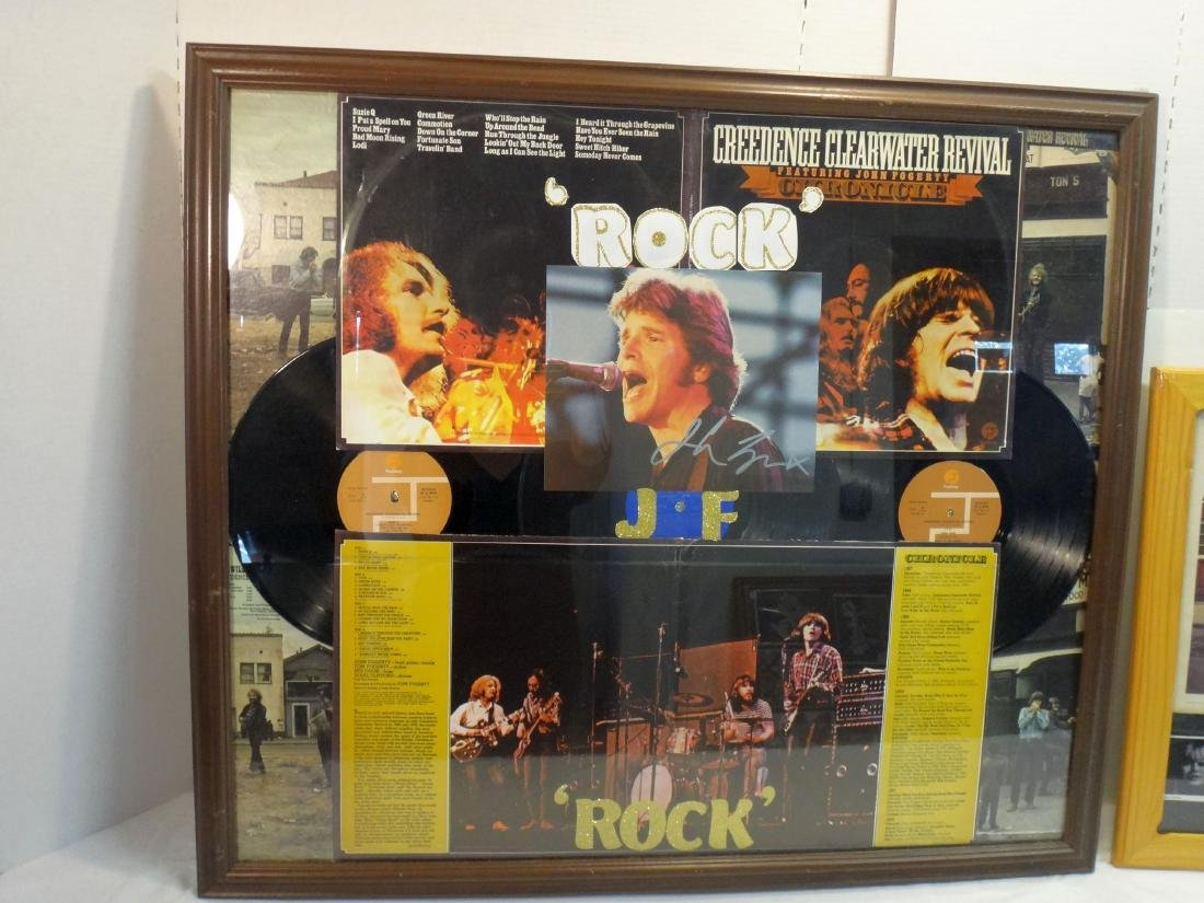 ROCK STAR COLLAGE W/ SIGNED PHOTO. - 2