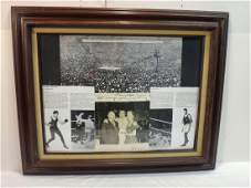 JACK DEMPSEY SIGNED PHOTO W INSCRIBED COLLAGE
