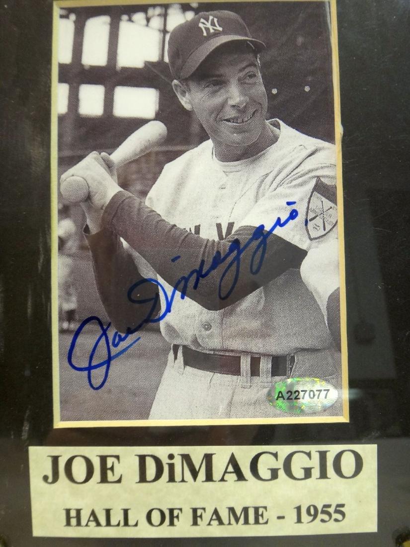 3 PC JOE DIMMAGGIO SIGNED PLAQUES - 3