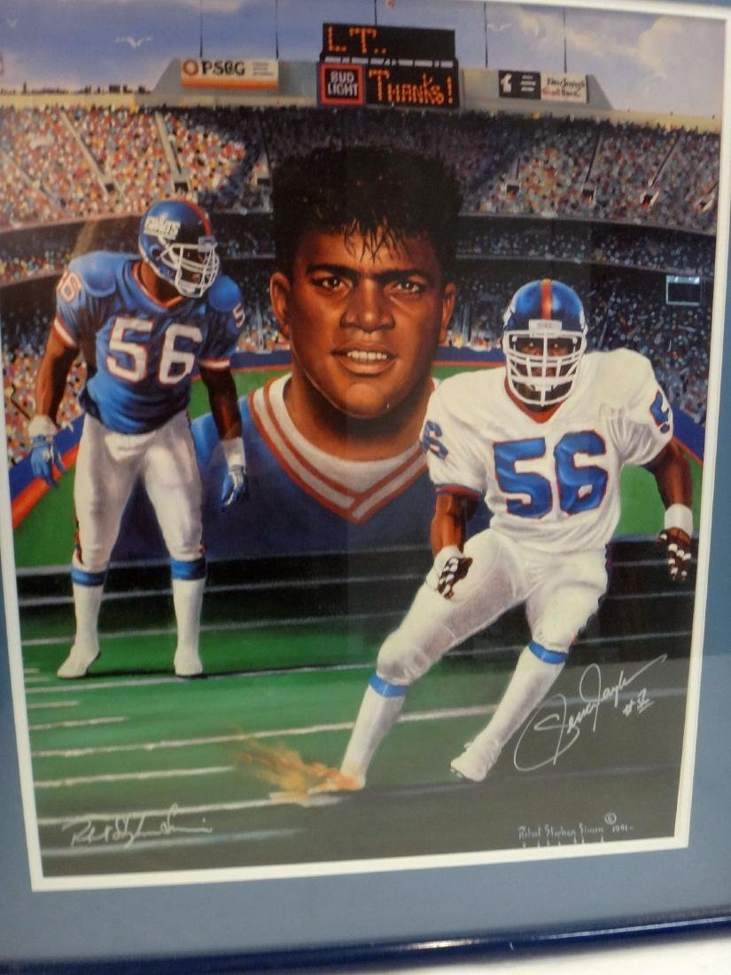 LAWRENCE TAYLOR/JOE THEISMAN SIGNED LITHO & PHOTO - 2