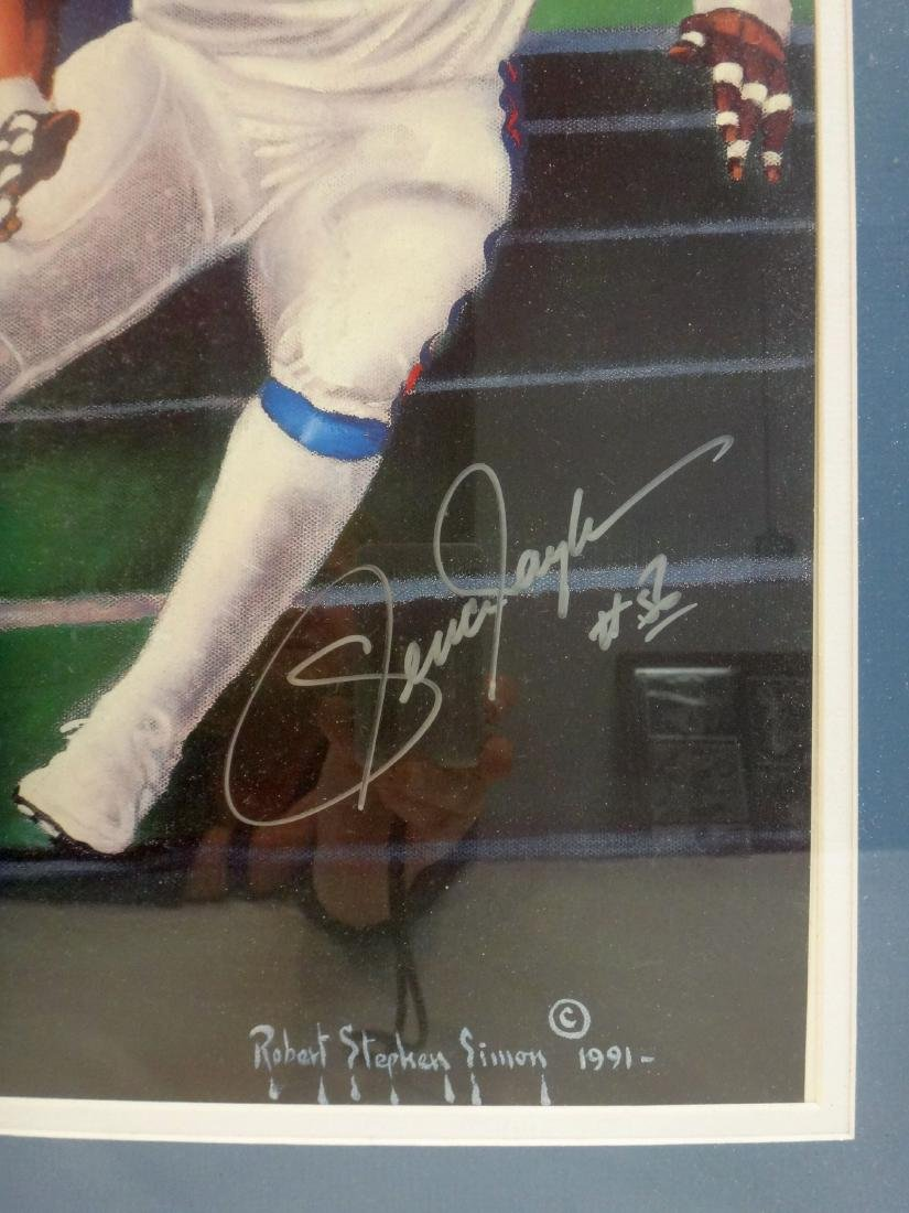 LAWRENCE TAYLOR/JOE THEISMAN SIGNED LITHO & PHOTO - 3
