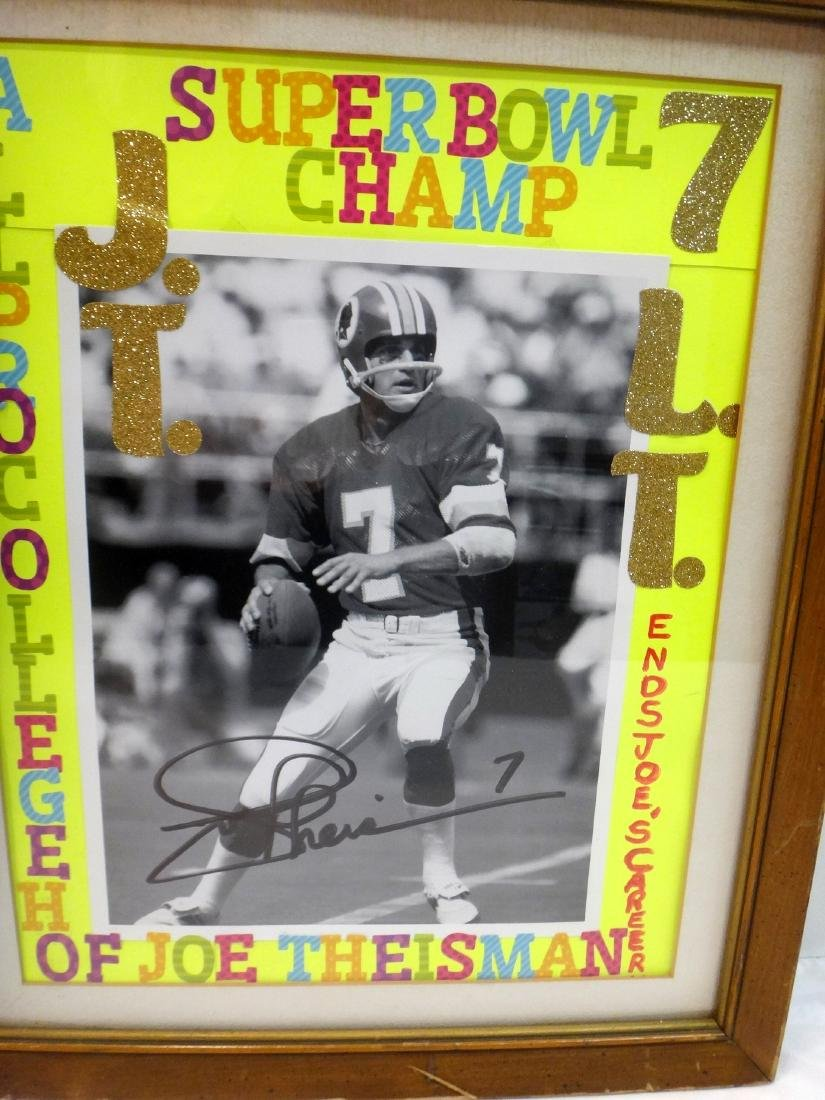 LAWRENCE TAYLOR/JOE THEISMAN SIGNED LITHO & PHOTO - 5
