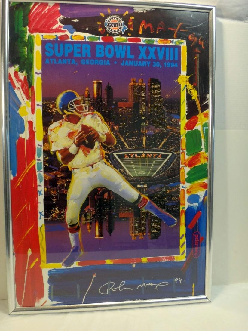 PETER MAX'S SIGNED SUPERBOWL 28 LITHO