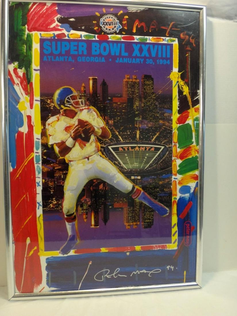 PETER MAX'S SIGNED SUPERBOWL 28 LITHO - 2