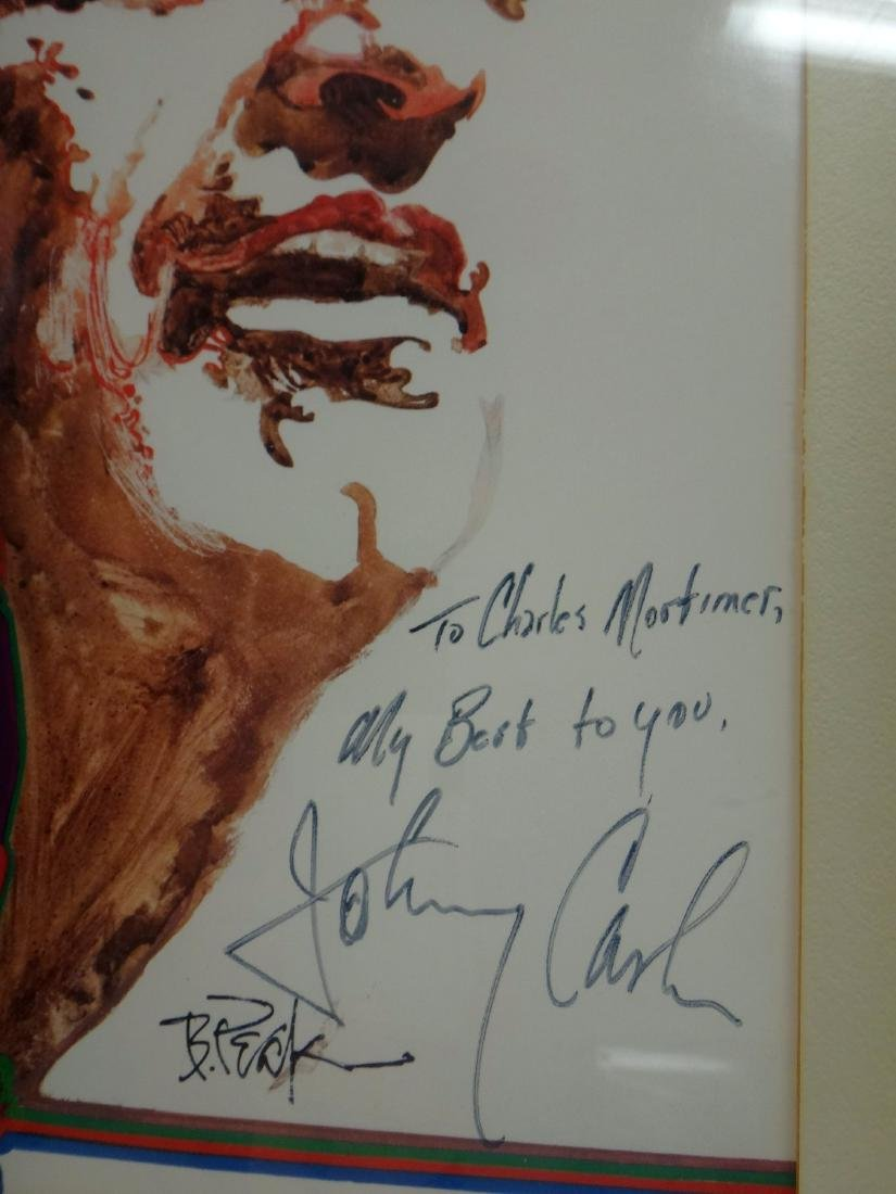JOHNNY CASH LITHO SIGNED BY HIM AND ARTIST - 3