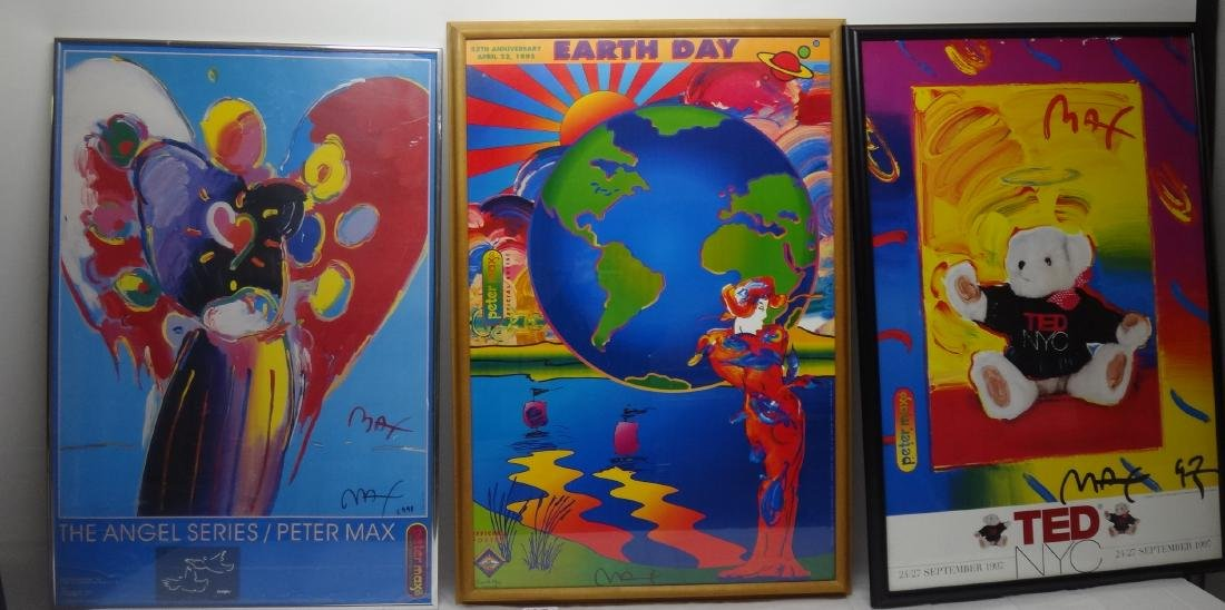 PETER MAX SIGNED POSTERS.