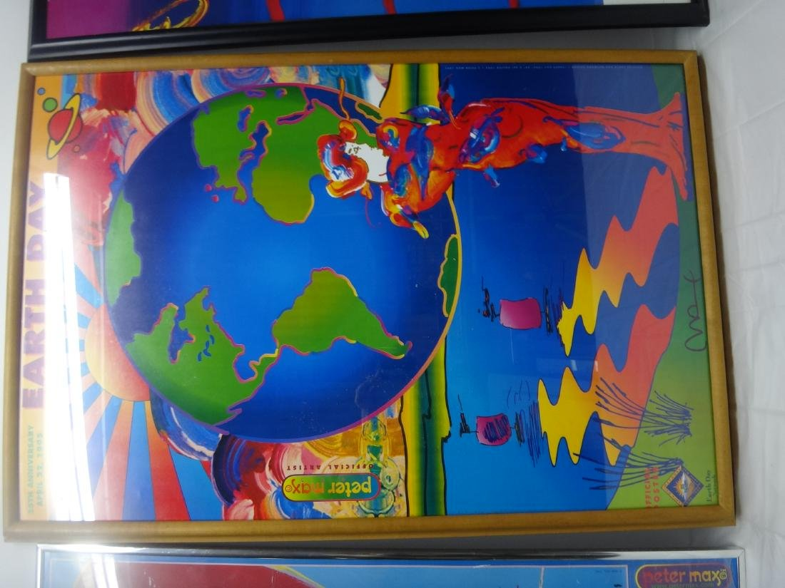 PETER MAX SIGNED POSTERS. - 2