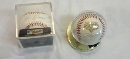 2 NEW YORK YANKEES SIGNED BALLS