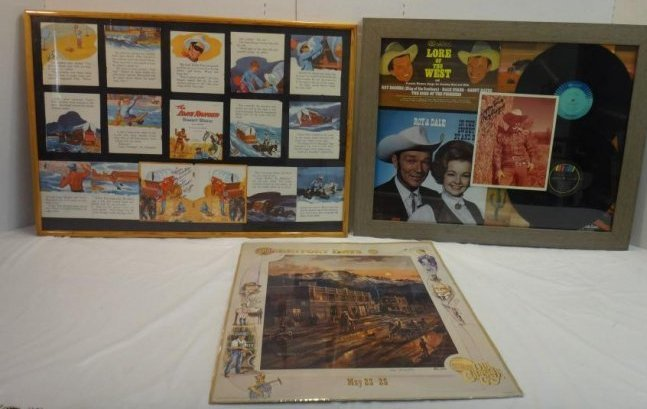 CLAYTON MOORE, ROY RODGERS SIGNED WESTERN PRINTS