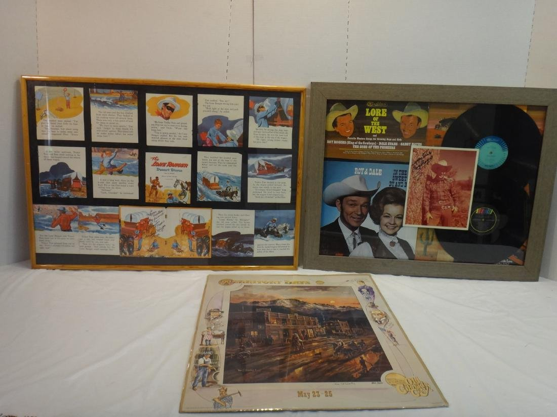 CLAYTON MOORE, ROY RODGERS SIGNED WESTERN PRINTS - 2