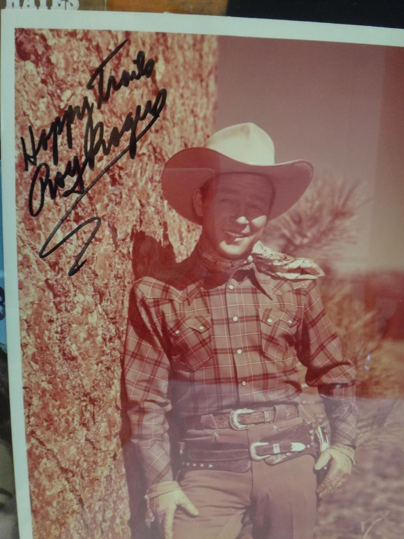 CLAYTON MOORE, ROY RODGERS SIGNED WESTERN PRINTS - 6