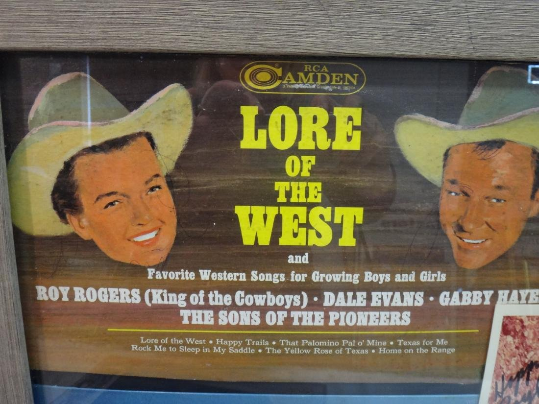 CLAYTON MOORE, ROY RODGERS SIGNED WESTERN PRINTS - 7