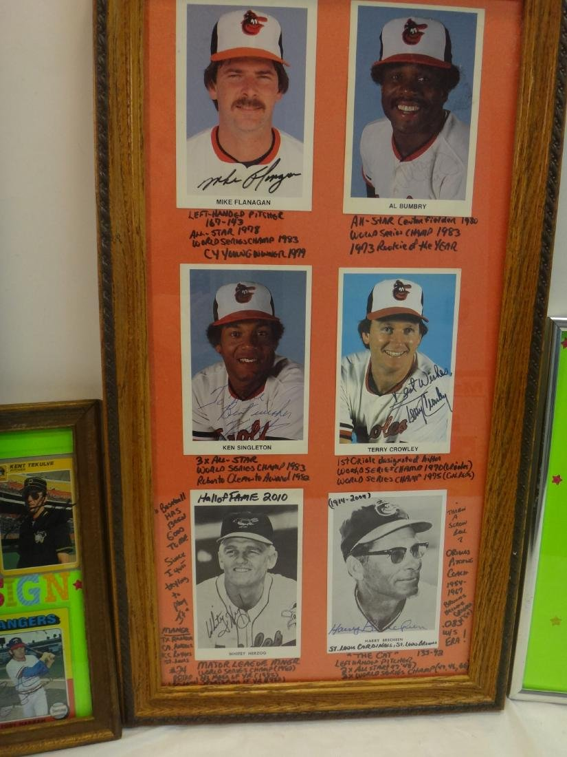 SIGNED MLB PHOTOS; PAO CLAYERS & BALTIMORE ORIOLES. - 3