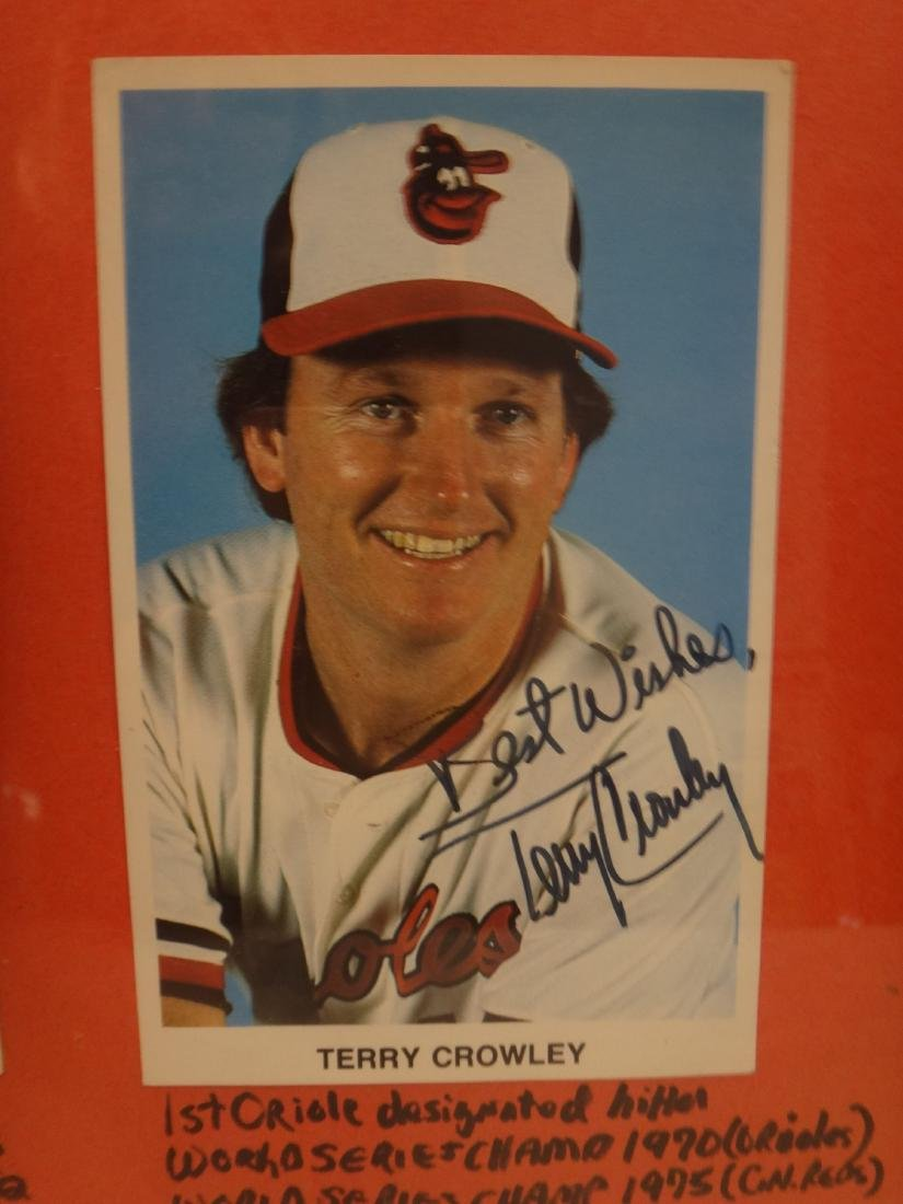 SIGNED MLB PHOTOS; PAO CLAYERS & BALTIMORE ORIOLES. - 7