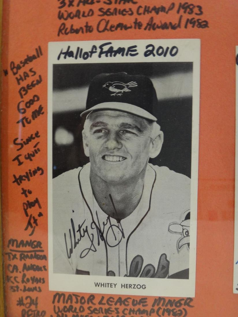 SIGNED MLB PHOTOS; PAO CLAYERS & BALTIMORE ORIOLES. - 8
