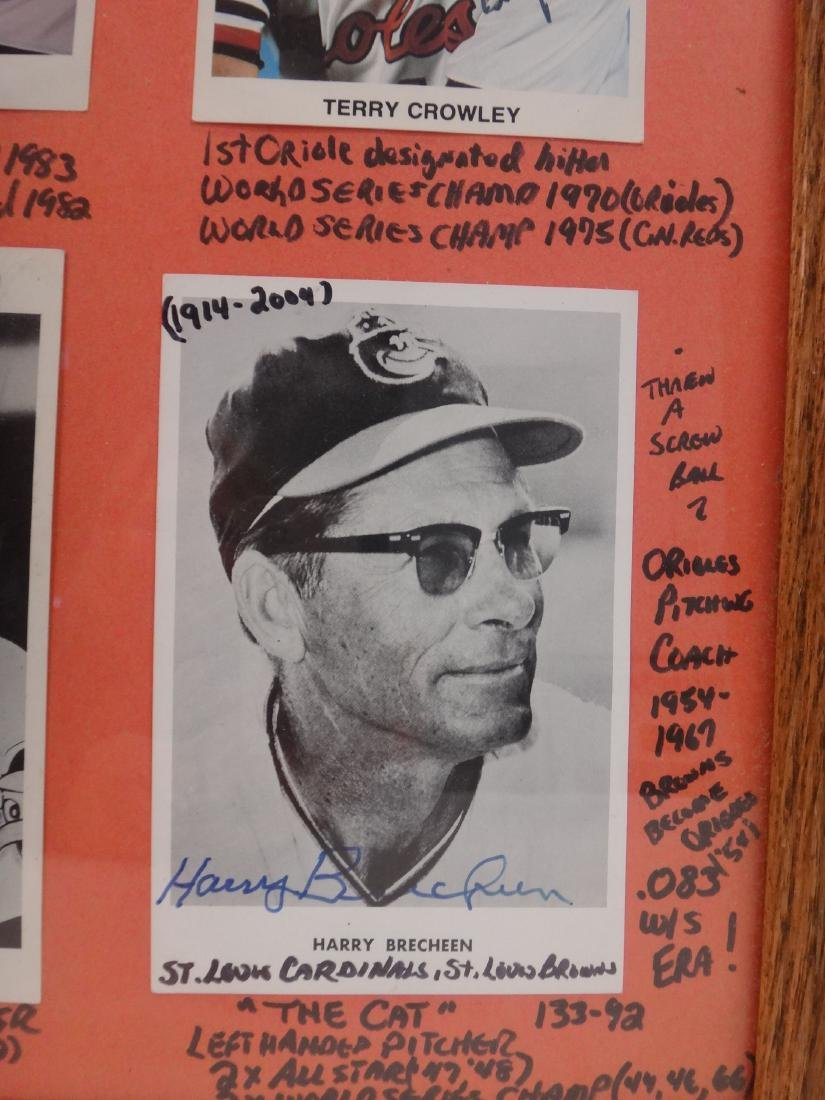 SIGNED MLB PHOTOS; PAO CLAYERS & BALTIMORE ORIOLES. - 9