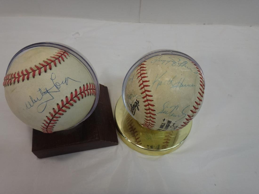 CLASSIC NY YANKEE SIGNED BALL/METS TEAM BALLS SIGNED - 3