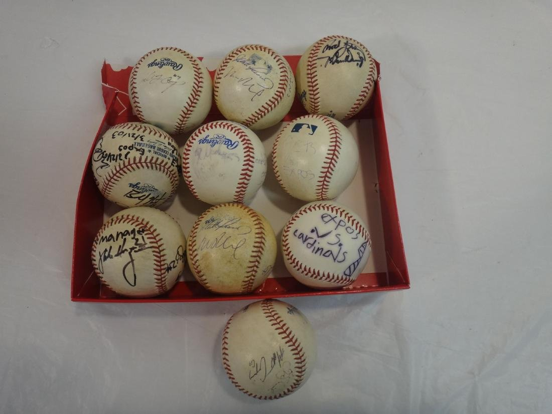 8 SIGNED BALLS OF METS, EXPOS, MARLINS, ETC. - 2